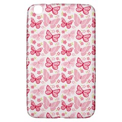 Cute Pink Flowers And Butterflies pattern  Samsung Galaxy Tab 3 (8 ) T3100 Hardshell Case