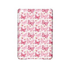 Cute Pink Flowers And Butterflies pattern  iPad Mini 2 Hardshell Cases
