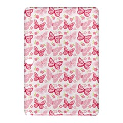 Cute Pink Flowers And Butterflies pattern  Samsung Galaxy Tab Pro 10.1 Hardshell Case