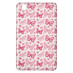 Cute Pink Flowers And Butterflies pattern  Samsung Galaxy Tab Pro 8.4 Hardshell Case