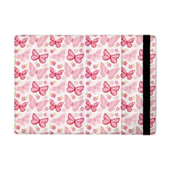 Cute Pink Flowers And Butterflies pattern  iPad Mini 2 Flip Cases