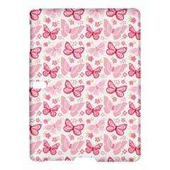 Cute Pink Flowers And Butterflies pattern  Samsung Galaxy Tab S (10.5 ) Hardshell Case