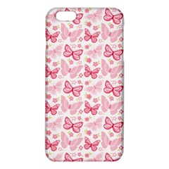 Cute Pink Flowers And Butterflies pattern  iPhone 6 Plus/6S Plus TPU Case