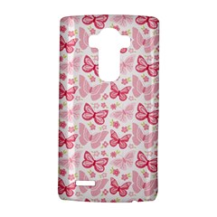 Cute Pink Flowers And Butterflies pattern  LG G4 Hardshell Case