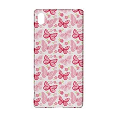 Cute Pink Flowers And Butterflies Pattern  Sony Xperia Z3+