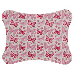 Cute Pink Flowers And Butterflies pattern  Jigsaw Puzzle Photo Stand (Bow)