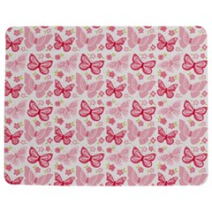 Cute Pink Flowers And Butterflies pattern  Jigsaw Puzzle Photo Stand (Rectangular)