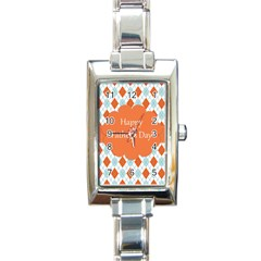 happy Father Day  Rectangle Italian Charm Watch