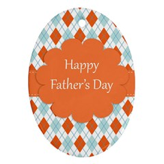 happy Father Day  Ornament (Oval)