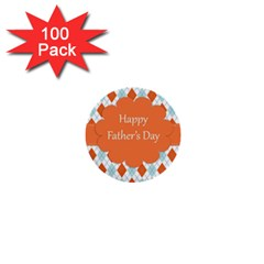 Happy Father Day  1  Mini Buttons (100 Pack)