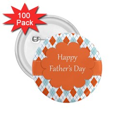 happy Father Day  2.25  Buttons (100 pack)