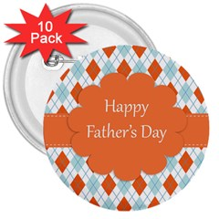 happy Father Day  3  Buttons (10 pack)
