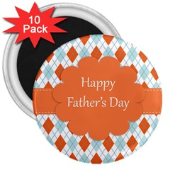 happy Father Day  3  Magnets (10 pack)