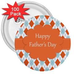 happy Father Day  3  Buttons (100 pack)