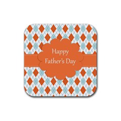 Happy Father Day  Rubber Square Coaster (4 Pack)
