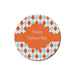 happy Father Day  Rubber Coaster (Round)