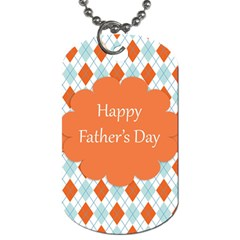 happy Father Day  Dog Tag (Two Sides)