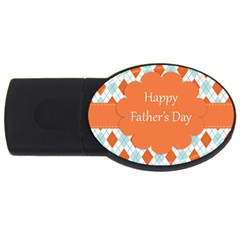 happy Father Day  USB Flash Drive Oval (4 GB)