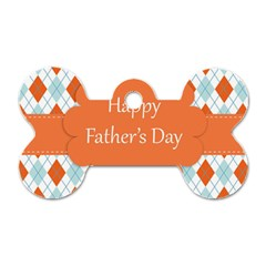 Happy Father Day  Dog Tag Bone (two Sides)