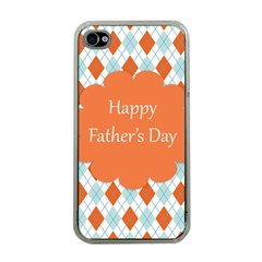 happy Father Day  Apple iPhone 4 Case (Clear)