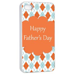 happy Father Day  Apple iPhone 4/4s Seamless Case (White)