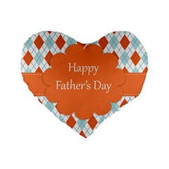 Happy Father Day  Standard 16  Premium Heart Shape Cushions