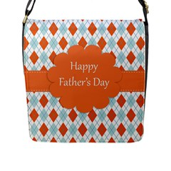 happy Father Day  Flap Messenger Bag (L)