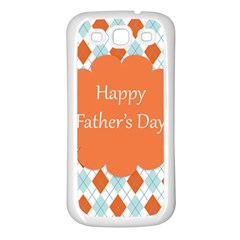 happy Father Day  Samsung Galaxy S3 Back Case (White)