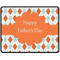 Happy Father Day  Double Sided Fleece Blanket (medium)
