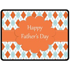 happy Father Day  Double Sided Fleece Blanket (Large)