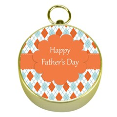 happy Father Day  Gold Compasses