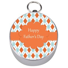happy Father Day  Silver Compasses