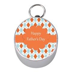happy Father Day  Mini Silver Compasses