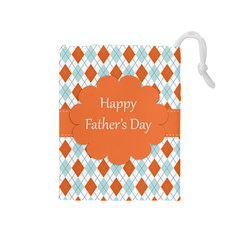 happy Father Day  Drawstring Pouches (Medium)