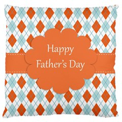 happy Father Day  Large Flano Cushion Case (One Side)