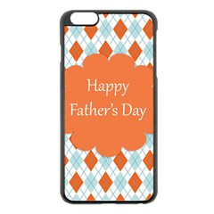 happy Father Day  Apple iPhone 6 Plus/6S Plus Black Enamel Case