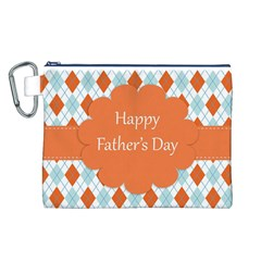 happy Father Day  Canvas Cosmetic Bag (L)