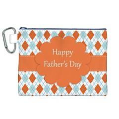 happy Father Day  Canvas Cosmetic Bag (XL)