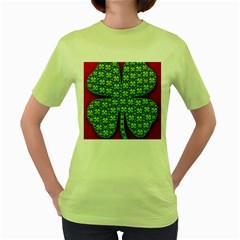 Shamrock Irish Ireland Clover Day Women s Green T Shirt