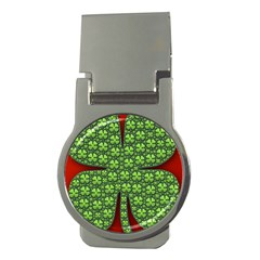 Shamrock Irish Ireland Clover Day Money Clips (round)