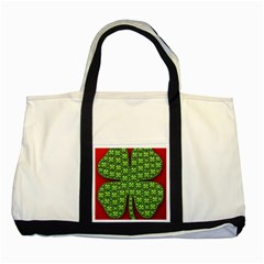 Shamrock Irish Ireland Clover Day Two Tone Tote Bag