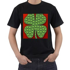 Shamrock Irish Ireland Clover Day Men s T-Shirt (Black)