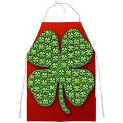 Shamrock Irish Ireland Clover Day Full Print Aprons