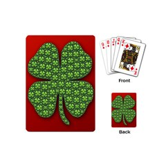Shamrock Irish Ireland Clover Day Playing Cards (mini)