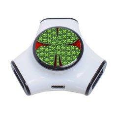 Shamrock Irish Ireland Clover Day 3 Port Usb Hub