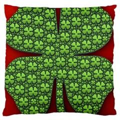 Shamrock Irish Ireland Clover Day Large Cushion Case (One Side)