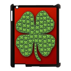 Shamrock Irish Ireland Clover Day Apple iPad 3/4 Case (Black)