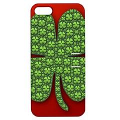 Shamrock Irish Ireland Clover Day Apple iPhone 5 Hardshell Case with Stand