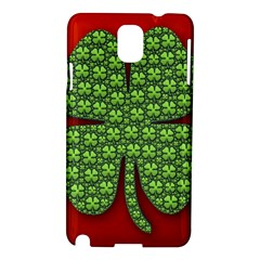 Shamrock Irish Ireland Clover Day Samsung Galaxy Note 3 N9005 Hardshell Case