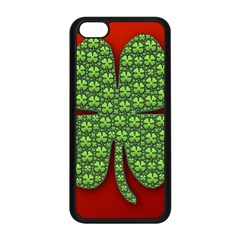 Shamrock Irish Ireland Clover Day Apple iPhone 5C Seamless Case (Black)